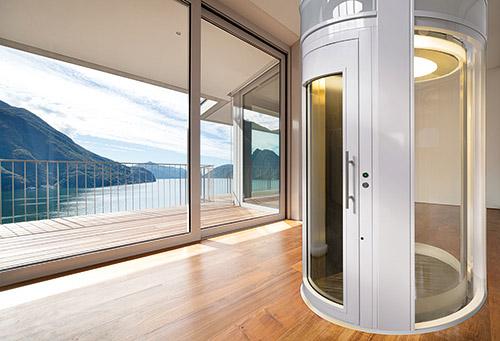 Simas porta tonda per ascensori esterni ed interni - Piattaforme elevatrici per interni prezzi ...
