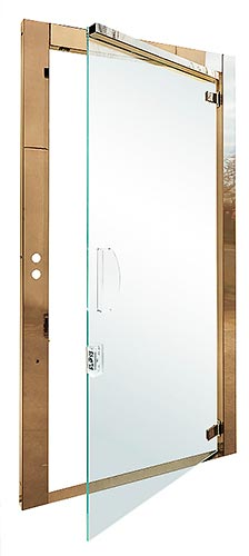 Panoramic doors made of glass for lift
